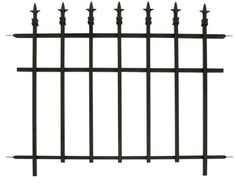Panacea Products Corp-Import 87103 Garden Fence with Finials, Black Steel, 30 x - Quantity 1 Backyard Fences, Outdoor Landscaping, Outdoor Gardens, Outdoor Life, Picket Fence Panels, Metal Fence Panels, Garden Edging, Lawn And Garden, Porch Gate