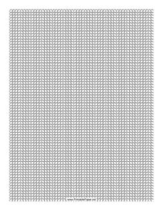 This 4 Seed Bead Herringbone Pattern beadwork layout graph paper features seed beads in a four-column herringbone pattern. Free to download and print
