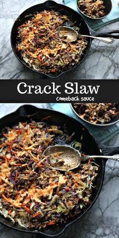 Easy Crack Slaw with Easy Comeback Sauce for animals latinoamerica Crack Slaw with Easy Three Ingredient Comeback Sauce Easy Steak Recipes, Slaw Recipes, Beef Recipes For Dinner, Sauce Recipes, Low Carb Recipes, Cooking Recipes, Healthy Recipes, Diabetic Recipes, Diet Recipes