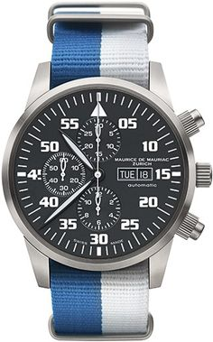 Chronograph Modern watch from Swiss Watchmaker Maurice de Mauriac. Swiss watches…