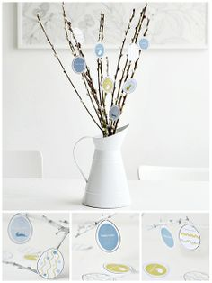 a nice idea for an easter bunch Easter Crafts, Holiday Crafts, Easter Ideas, Diy Osterschmuck, Homemade Tables, Easter 2015, Diy Upcycling, About Easter, Diy Easter Decorations
