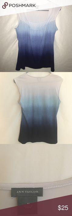 ANN TAYLOR Blouse Beautiful ombre blouse. Size medium Ann Taylor Tops Blouses