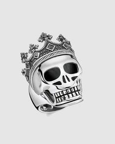 Señoras Anillo de Calavera de Motorista-Acero Inoxidable Negro Gótico Horror Girl/'s Jewellery