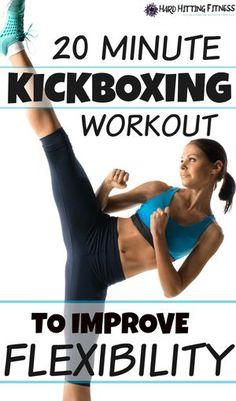 20 Minute Kickboxing Workout to Improve Flexibility Fit Girl Motivation, Fitness Motivation, Best Weight Loss, Weight Loss Tips, Lose Weight, Kickboxing Workout, Reduce Cellulite, Improve Flexibility, Tips Belleza