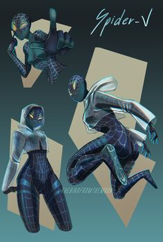 """I saw Spiderverse last week and just loved it, and the spidersona trend is pretty fun too 🕷"""" Spider Art, Spider Verse, Marvel Fan Art, Marvel Heroes, Foto Batman, Spiderman Costume, Spiderman Suits, Superhero Characters, Hero Costumes"""