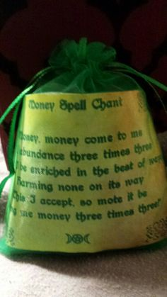 Items similar to Money mojo bag on Etsy Magick, Witchcraft, Mojo Bags, Wiccan Crafts, Moon Magic, Magic Spells, Book Of Shadows, The Conjuring, Herbs