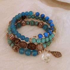 memory wire bracelets | Galactic Crystal Memory Wire Bracelet by BlooMoonJewelry on Etsy, $108 ...