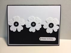 My Creative Corner!: A Flower Shop Birthday - emboss white cardstock with dotted swiss embossing folder before punching out
