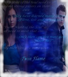 "Vampire Diaries: Twin Flames Elena+Stefan (Part 1) - ""You can recall Elena, when she first encountered Stefan, feeling a strong, overwhelming, indescribable, magnetic connection to Stefan when she first laid eyes on him... When Elena met Stefan, she experienced 'euphoria'.   She was in a trance like state, the experience of meeting Stefan was so intense, powerful and overwhelming for her... This was Elena's essence recognizing Stefan's essence."""