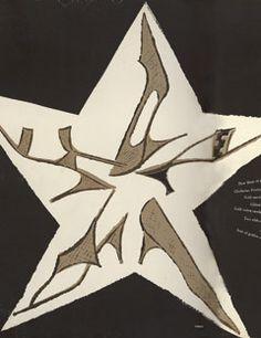 Vintage Harper's Bazaar Cover  1950s: Andy Warhol's illustrations for Bazaar.