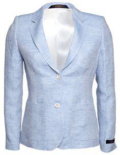 Morris Lady Linen Club Blazer Light Blue