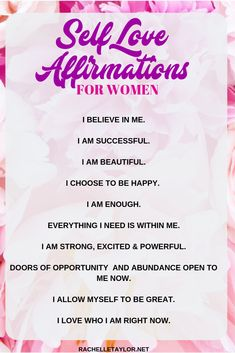 Self Love Quotes - Self love affirmations for women Affirmations Positives, Positive Affirmations Quotes, Affirmations For Women, Self Love Affirmations, Morning Affirmations, Law Of Attraction Affirmations, Affirmation Quotes, Affirmations Confidence, Christian Affirmations
