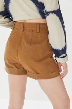 8ab062a865778 UO Kenny High-Rise Cutoff Trouser Short