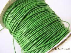 5m Kordel gewachst 1mm * Grün