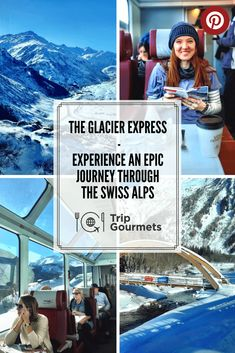 The Glacier Express is no ordinary train and the route it takes is no ordinary journey. On the whole trip you will roll through the ever-more stunning Swiss Alps for seven and a half hours. Over 291 bridges and through 91 tunnels. Climbing to more than 2 Europe Destinations, Europe Travel Tips, Travel Abroad, Travel Hacks, European Travel, Holiday Destinations, Travel Essentials, Switzerland Vacation, Murren Switzerland