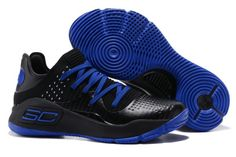 separation shoes f14d3 46442 Under Armour Curry 4 Low Black Blue For Sale Casual Sneakers, Air Max  Sneakers,