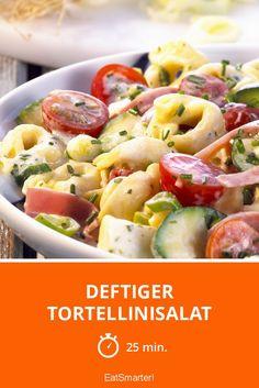 Deftiger Tortellinisalat - smarter - Zeit: 25 Min. | eatsmarter.de #nudelsalat #grillen #pasta