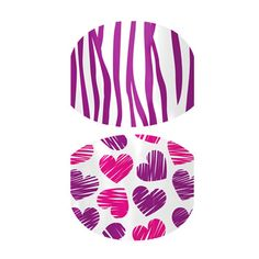 Zebra & Scribble Hearts-bright colors designed with little girls in mind.  Jamberry Nail Shields, Nail Wraps - Buy Jamberry Nails today!!