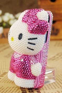 bling iPhone case, hello kitty