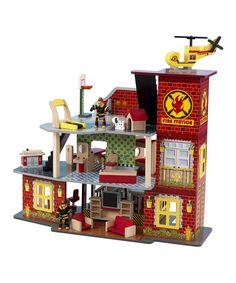Love this KidKraft Deluxe Fire Station Set by KidKraft on #zulily! #zulilyfinds