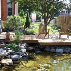 So refreshing. Peaceful. Relaxing. Home.    35 Impressive Backyard Ponds and Water Gardens