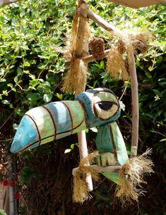 Tiki Room Bird blue-green-bird Tiki tOny | by tikitony