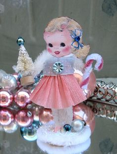 Vintage Paper Posy Doll