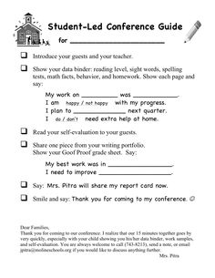 I like this one, especially to Segway to the teacher sharing the report card grades and the note from the teacher at the bottom.