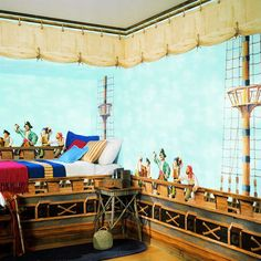 pirate bedroom | Wall Sticker Outlet: Decorating a Pirate Themed Bedroom