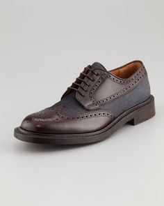 Givted-tosco #leather & #denim #oxford