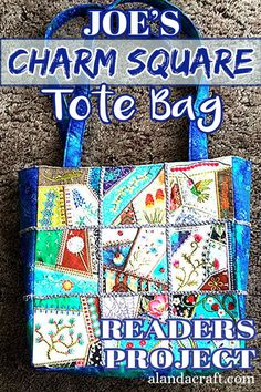 Our Readers Project is this awesome Charm Square Tote Bag by Joe. It was made from our free Charm Square tote bag tutorial. This is an easy tote bag sewing project. Tote Storage, Craft Storage, Purse Patterns, Sewing Patterns Free, Couch Bag, Origami Bag, Purse Tutorial, Unique Bags, Quilting Tutorials