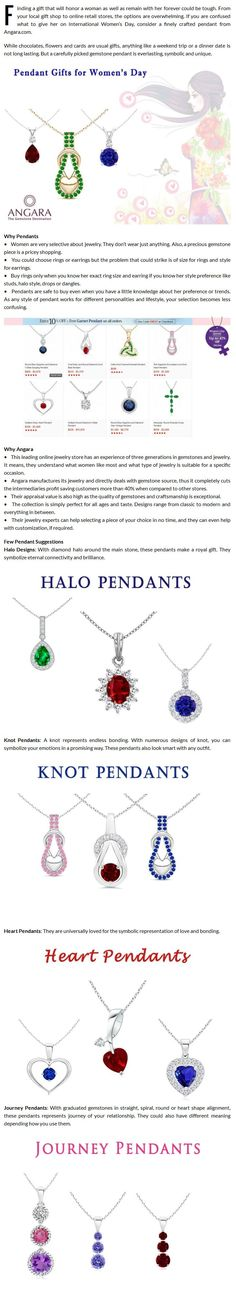 Angara Jewelry Gifts: Gemstone Pendant Gifts for Women's Day