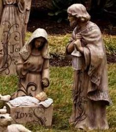outdoor nativity sets are so beautiful and is one of the best ways to decorate your - Christmas Nativity Set Outdoor