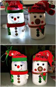Image result for christmas snowman from mason jars