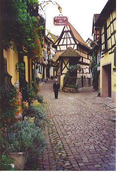 One of the prettiest villages was Equisheim on the Route de Vins D'Alsace