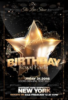 Beautifully Designed PSD Birthday Party Flyer Templates - Birthday party invitation flyer template