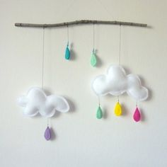 #DIY felt #clouds