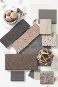 When building a home, you are looking for unique solutions that suit your lifestyle, so naturally, the materials you decide to use are an important and enduring choice. Mood Board Interior, Interior Design Boards, Bathroom Color Schemes, Colour Schemes, Best Gray Paint Color, Interior Design Presentation, Material Board, E Design, Colorful Interiors