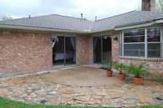 Extended patio with paverstones