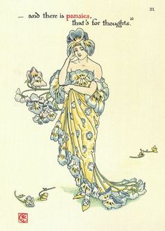 walter crane flowers - Google Search