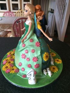 Frozen Fever Doll cake