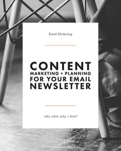 Before you start your newsletter, it is imperative you identify your email newsletter content in order to provide value for your business.