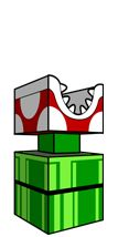 paper piranha plant with mouth to hold candy