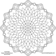 Don't Eat the Paste: November Birthstone and Flower Mandala