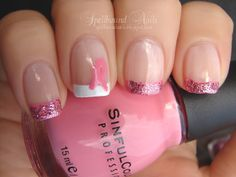Spellbound Nails: Breast Cancer Awareness nails