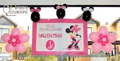 Decoración fiesta Minnie www.happy-occasions.com