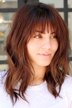 40+ Best Trendy Haircuts With Bangs #beautyhairstyles