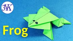 How To Make Origami Paper Frog /DIY Origami Paper Frog / Miniature Craft Idea /