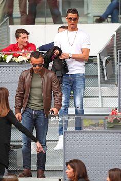 Footballer Cristiano Ronaldo attends the Men s Singles Quarter Final match between  Rafael Nadal of Spain and e19f8fdca