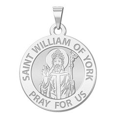 Saint William of York Religious Medal   34 Inch Size of a Nickel Sterling Silver *** Be sure to check out this awesome product.Note:It is affiliate link to Amazon. #NecklacesCollection